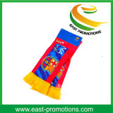 Atacado Custom Polyester Printed Tricotado Satin Football Fan Scarf