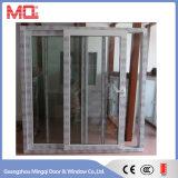 Porte en verre de glissement de salle de bains de toilette d'UPVC