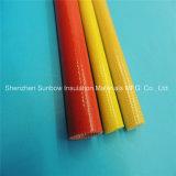 Da fibra de vidro revestida ambarina do plutônio da cor 4.0kv da classe de F Sleeving elétrico trançado da isolação do fio