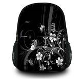 Sacola de mochila para mochilas para laptop preto para mulheres e homens