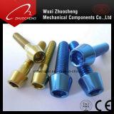 Douille hexagonale zippée au zinc Boulon à vis en alliage de titane