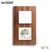 Interruptor eléctrico de la pared de Ivor con el OEM/el ODM alemanes del socket