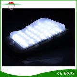 Éclairage extérieur actionné solaire de grand de la batterie 4400mAh 400lm I65 des lumières 38LED de mur jardin solaire de lumière
