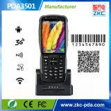Machine programmable androïde de scanner de code barres du WiFi NFC PDA GM/M de Zkc PDA3501 3G