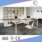 Poste de travail blanc de bureau de personnel de Tableau de bureau de croix de meubles de mode