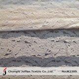 Tricotage chaîne dentelle de coton Tissus pour vêtements (M3385)