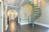 Escalier spiralé d'acier inoxydable avec la semelle en bois de chêne/modèle moderne