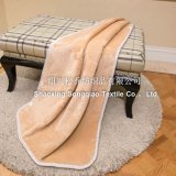 Polaire de corail avec Shu Velveteen Blanket / Sherpa Fleece Throw - Khaki
