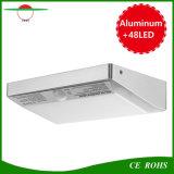 luzes solares impermeáveis ao ar livre solares da parede do sensor de movimento dos lúmens PIR da lâmpada 760 da luz solar do jardim da segurança 48LED