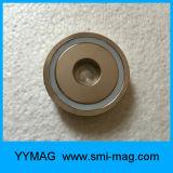 直通の穴が付いている2017年のYymag NdFeBの磁石のネオジムの鍋の磁石