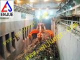 Compartimiento de acero del gancho agarrador del desecho de la cáscara anaranjada del gancho agarrador hidráulico de la basura