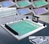 1860mm gran tamaño de construcción de bañera de masaje SPA con el CE RoHS para 2 personas (AT-0505F TV)