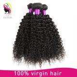 100加工されていないバージンのブラジルのねじれた巻き毛の人間の毛髪