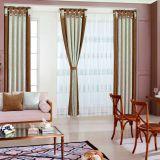 Klimaübereinkunft-Damast-Schlafzimmer-Vorhang mit der Ebene gefärbt