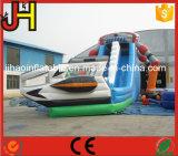 Giant Alien Inflatable Water Slide com piscina para crianças