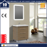 Gabinete de móveis de banheiro Expresso de alto brilho com espelho LED