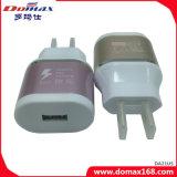 Caricatore dell'adattatore di corsa del USB Fase della spina di parete micro
