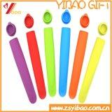 Moulages de Popsicle en caoutchouc de silicones pour la crême glacée pour des enfants