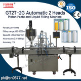 Pistas dobles automáticas que embotellan la máquina de rellenar de la salsa de chiles (GT2T-2G1000)