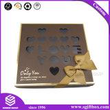 Embalagens de papel personalizado Caixa de chocolate com janela de plástico