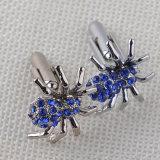 Спайдер металла вползая с кристаллический животными романными соединениями тумака Cufflinks