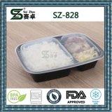 2개의 격실 플라스틱 처분할 수 있는 식품 포장 콘테이너