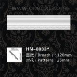 Moulage de tête de découpage décoratif de polyuréthane de moulages de corniche d'unité centrale Hn-8033