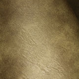 Couro sintético macio do plutônio da resistência de abrasão da venda quente para a mobília do sofá (E6086)