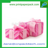 Vakje van de Chocolade van de Gift van het Document van het Lint van de douane het Verpakkende