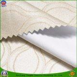 Tissu ignifuge imperméable à l'eau de rideau en polyester de jacquard d'arrêt total tissé par textile à la maison