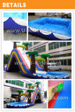 熱い販売子供および大人のためのプールが付いている熱帯膨脹可能な水スライドの膨脹可能な警備員のスライド