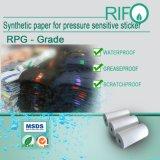 水証拠の破損の抵抗力があるステッカーのためのリボンの印刷できる総合的なペーパー