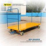Línea de producción utilizando el transporte de carga con carro cama plana