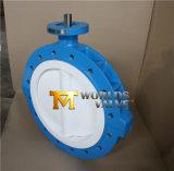 Válvula de borboleta do corpo de Typesplit do talão do forro de PTFE com ISO Wras do Ce aprovado