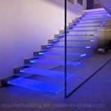 Escaleras de cristal modificadas para requisitos particulares del vidrio de flotación de la escalera con la luz del LED