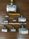 Valvola a sfera sanitaria dell'acqua d'ottone dell'impianto idraulico con il prezzo di fabbrica (YD-1021-1)