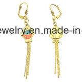 Joyería &#160 plateado oro de la manera; Pendiente de la gota para el oído del acero inoxidable (ERS7003)