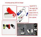 Carregador de carro giratório estilo USB
