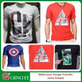 La mejor etiqueta autoadhesiva del traspaso térmico del precio de Qingyi para la camiseta