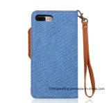 Desmontable Jeans 2in1 cuero Wallet Phone caso para iPhone 7 y 7 Plus