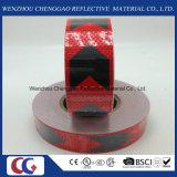 Schwarzer und roter Pfeil Belüftung-reflektierendes Band mit Kristallgitter