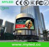 Visualización de LED al aire libre P10 del alto brillo con el regulador de la Nova para la alameda de compras