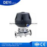 Dn65 Actuator Aspetic van het Roestvrij staal Ss316L de Pneumatische Klep van het Diafragma