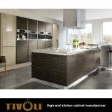 Meubilair van de Keuken van de Melamine van het Ontwerp van de Keuken van het flatje het Goedkope Grijze (AP019)