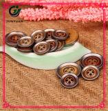 Botão de acabamento redondo Botão de vestuário 4 poços