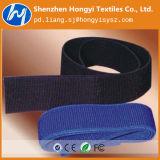 ナイロン再使用可能で調節可能で黒い伸縮性があるループテープ