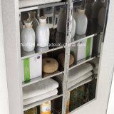 Gabinete elegante 7100 do espelho da cozinha do aço inoxidável do retângulo