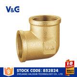 Instalaciones de tuberías de cobre amarillo del codo directo de la fábrica de Zhejiang del surtidor de China
