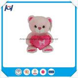 채워지는 심혼 도매 아기 견면 벨벳 장난감을%s 가진 귀여운 분홍색 곰