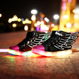 LED de padrão de bom calçado barato preço Adulto Calçado de luz LED luminoso de incandescência acender de calçado